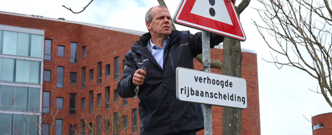 Ingebruikname NabascoSign biocomposiet bord in Alphen a/d Rijn